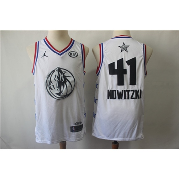 new concept 918a8 5fb17 Dallas Mavericks Dirk Nowitzki All Star Jersey NWT